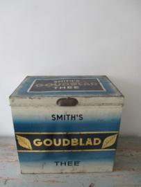 Oud Goudblad theeblik SOLD