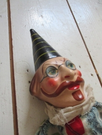 Antieke handpop clown SOLD