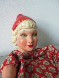 Antieke handpop roodkapje SOLD