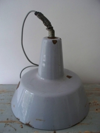 Grote industriele emaille  lamp Philips SOLD