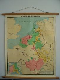 Oude schoolplaat bourgondische landen SOLD