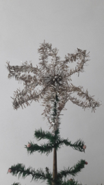Oude tinsel kerstster / piek