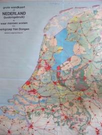 Antieke schoolplaat Nederland  XXL