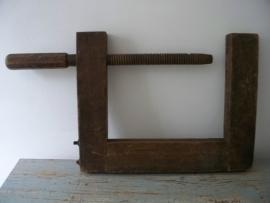 Oude houten lijmklem XXL SOLD
