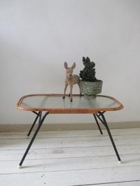 Vintage rotan tafeltje SOLD