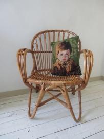 Vintage rohe rotan stoeltjes retro SOLD