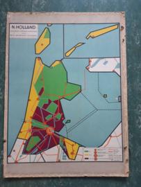 Oude schoolplaat Noord-Holland