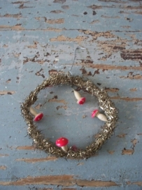 Oude tinsel kersthanger SOLD
