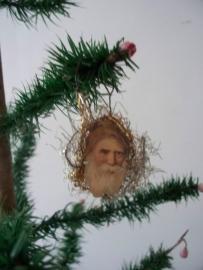 Oude antieke kerstbal  / poesieplaatje SOLD