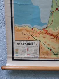 Oude schoolplaat Frankrijk
