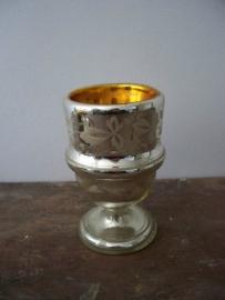 Oud Armeluiszilver/zilverglas bokaal SOLD
