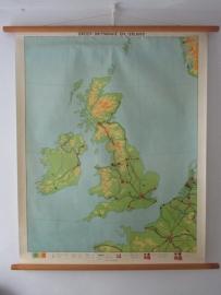 Oude schoolplaat Groot Brittannie en Ierland SOLD