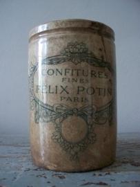 Oude Franse beboterde jampot SOLD