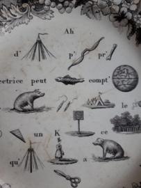 antieke franse rebus borden SOLD