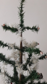 Oud tinsel wit / zilver