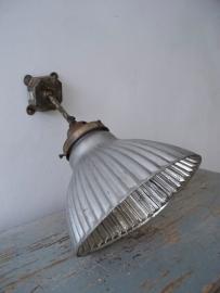 Oude zilverglaslamp SOLD