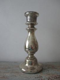 Oude Armeluiszilver/zilverglas kandelaar XXL SOLD