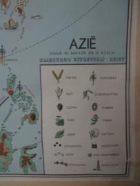 Oude schoolplaat Azie