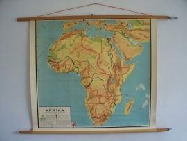 Oude schoolplaat Afrika SOLD