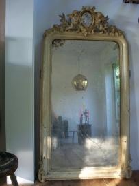 Antieke Franse spiegel met engelen SOLD