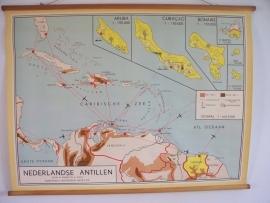 Oude schoolplaat Nederlandse Antillen SOLD