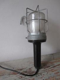 Oude industriele werklamp SOLD