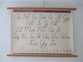 Oude schoolplaat ABC SOLD