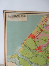 Oude schoolplaat Zuid Holland