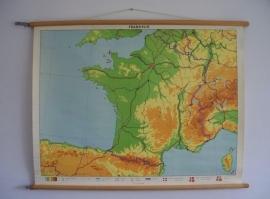 Oude schoolplaat Frankrijk SOLD
