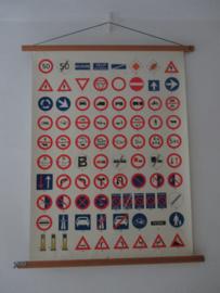 Oude schoolplaat met verkeersborden SOLD