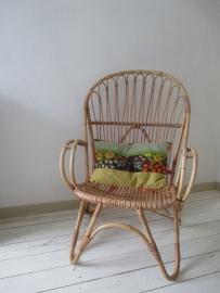 Vintage  rohe rotan stoel XL SOLD