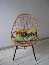 Oude rotan stoel vintage  / retro SOLD