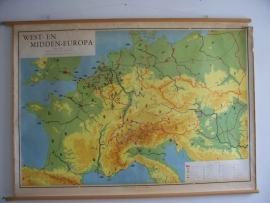 Oude schoolplaat west en midden Europa SOLD