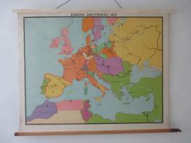 Oude schoolplaat europa