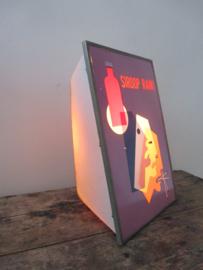 Oud reclamebordje / lamp SOLD
