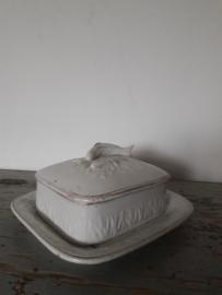 Oude schaal met deksel / haringschaal SOLD