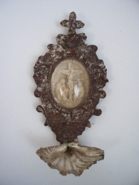 Antiek Frans wijwaterbakje SOLD