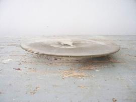 Antieke schaal van zilverglas SOLD