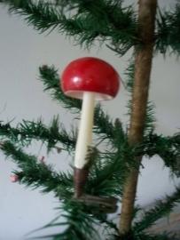 Oude antieke kerstbal / paddestoel  SOLD