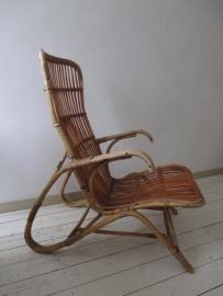 Oude  rohe rotan stoel SOLD