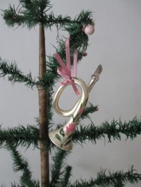 Oude trompet / kerstbal SOLD