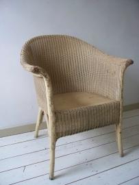 Oude lloyd loom stoel SOLD