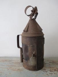 Antieke Franse lantaarn XXL (rond model) SOLD