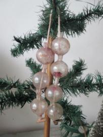 Oude antieke kerstbal / slingertje SOLD