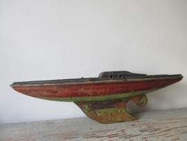 Vintage speelgoed bootje SOLD
