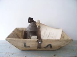 Oude bak /plukmand met hengsel SOLD