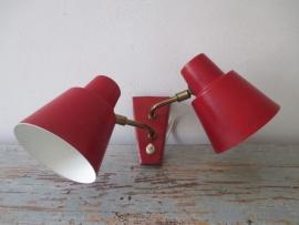 Industrieel oud wandlampje retro/vintage SOLD