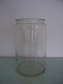 Oude glazen pot / vaas SOLD