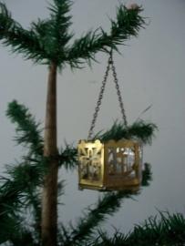 Oude antieke kerstbal / waxinehouder SOLD