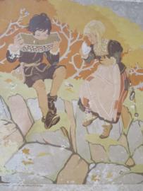 Oude schoolplaat Hans en Grietje